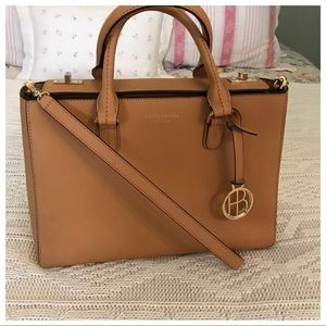 Henri Bendel West 57th Turnlock Satchel Crossbody
